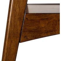copa white pecan end table