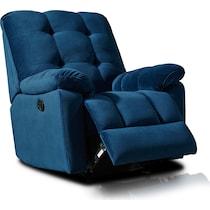 cordelle blue recliner