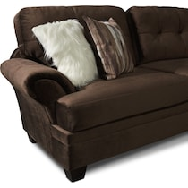 cordelle dark brown  pc sectional and chair