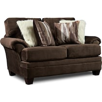 cordelle dark brown loveseat
