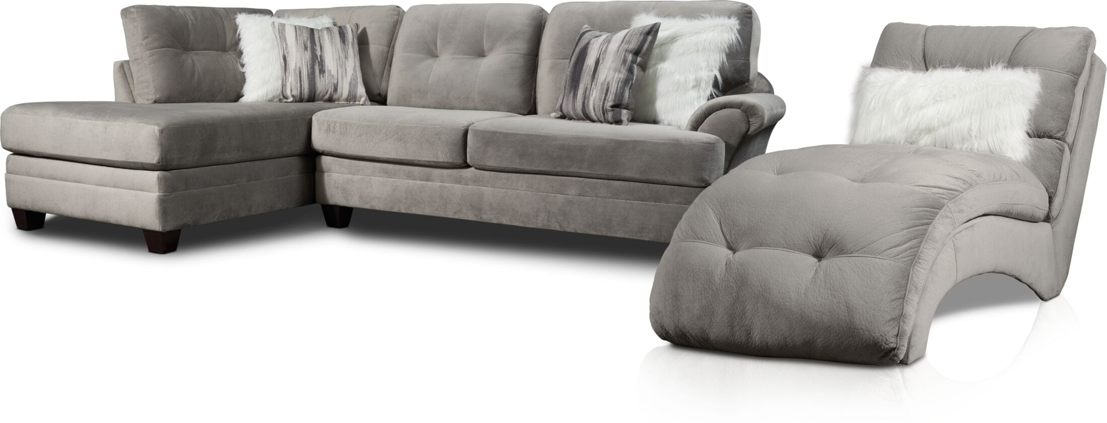Living Room Furniture - Cordelle 2-Piece Sectional and Chaise
