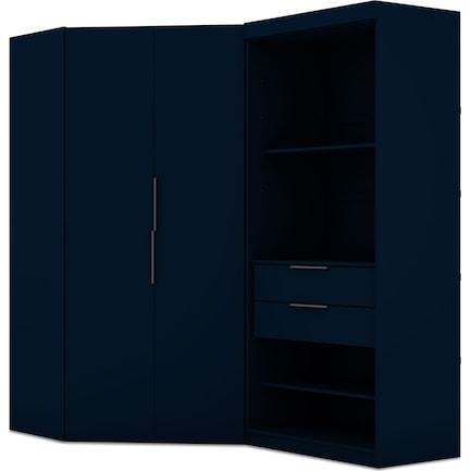 Cornell Set of 2 Semi-Open Corner Closets - Blue