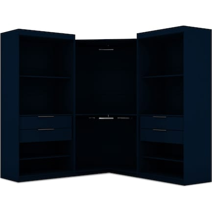 Cornell 3 Section Open Corner Closet - Blue