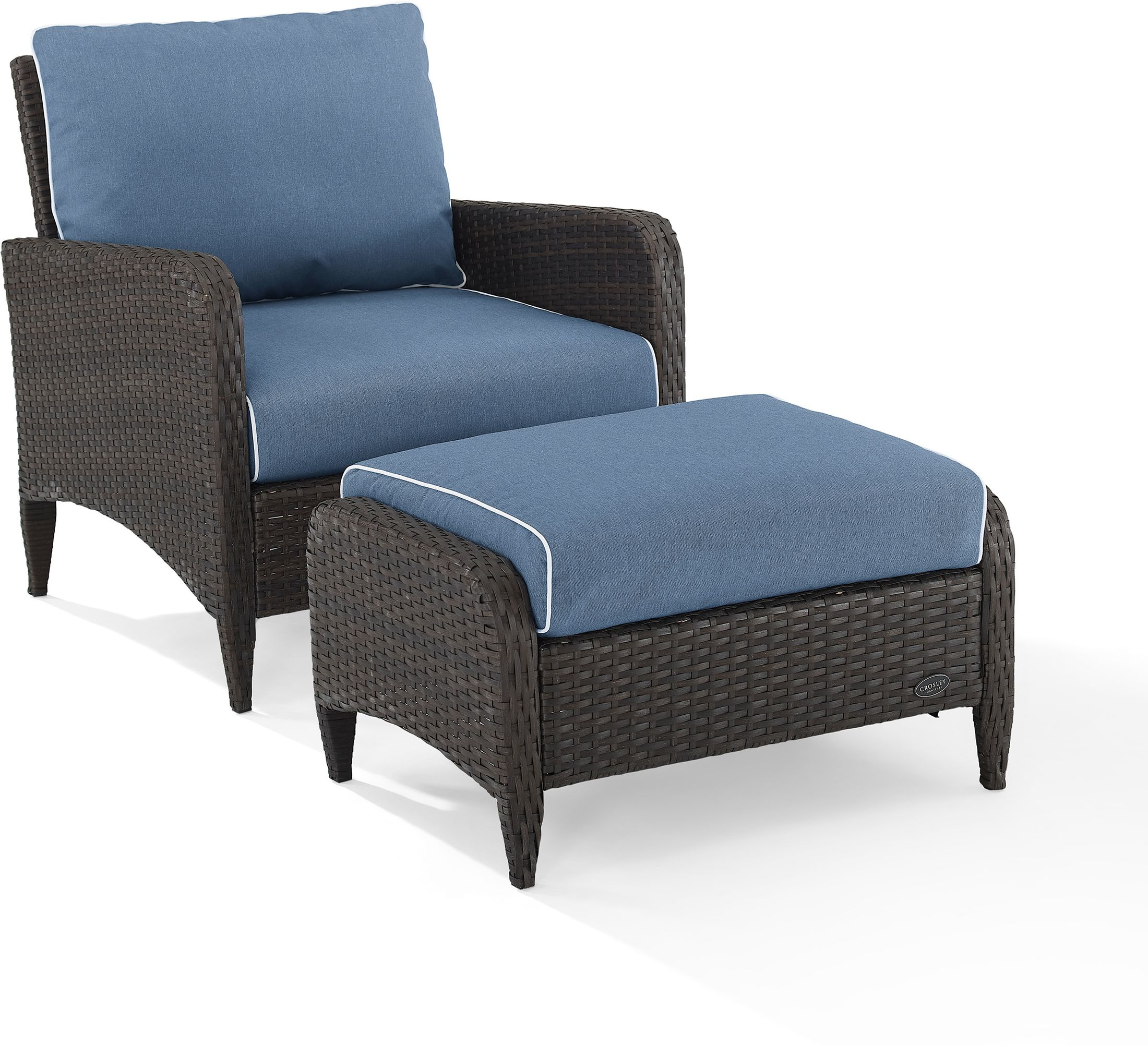 Outdoor Furniture - Corona Outdoor Chair and Ottoman Set