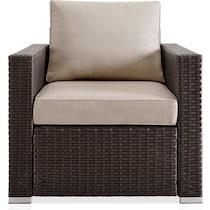 coronado dark brown outdoor sofa set