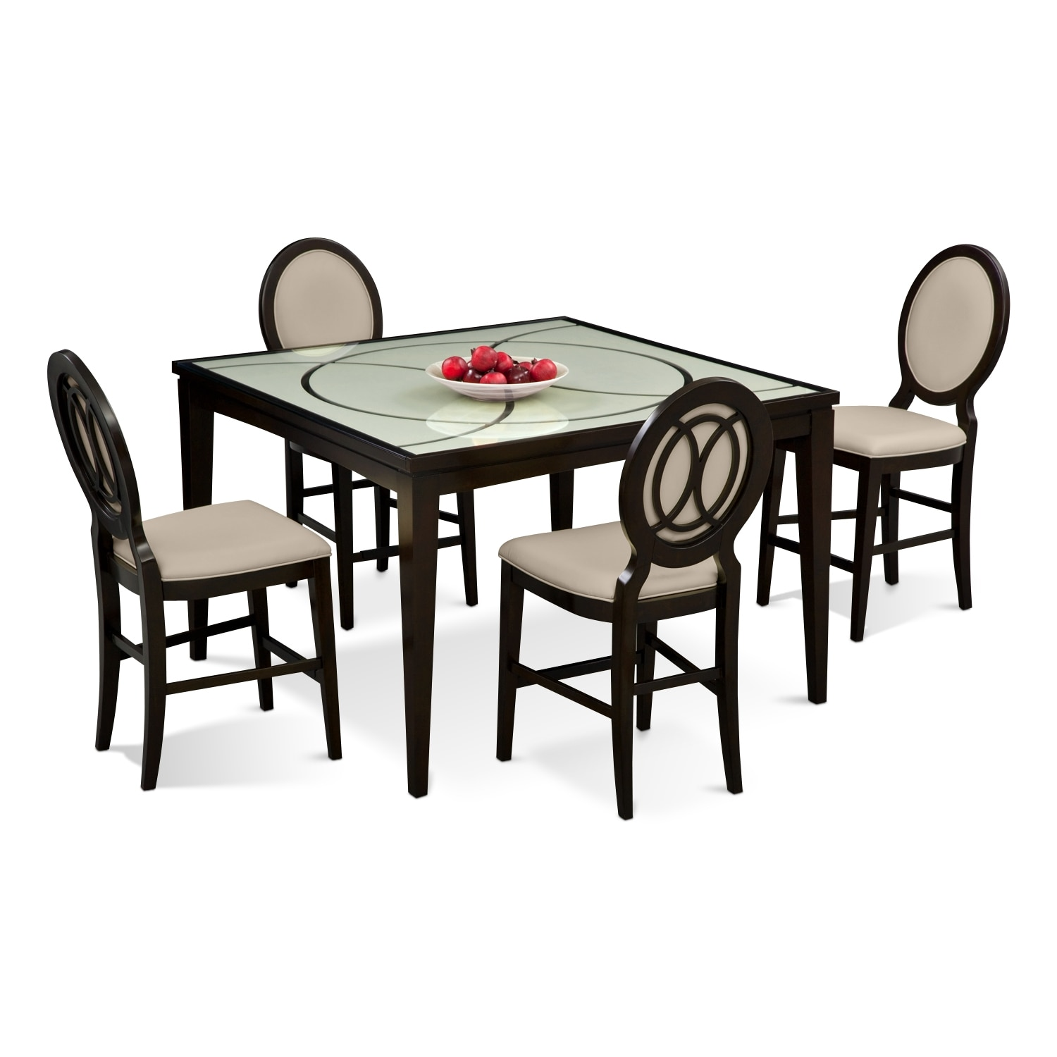 Cosmo Counter Height Dining Table And 4 Dining Chairs American Signature Furniture