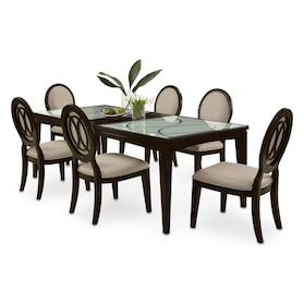 Cosmo Dining Table and 6 Dining Chairs