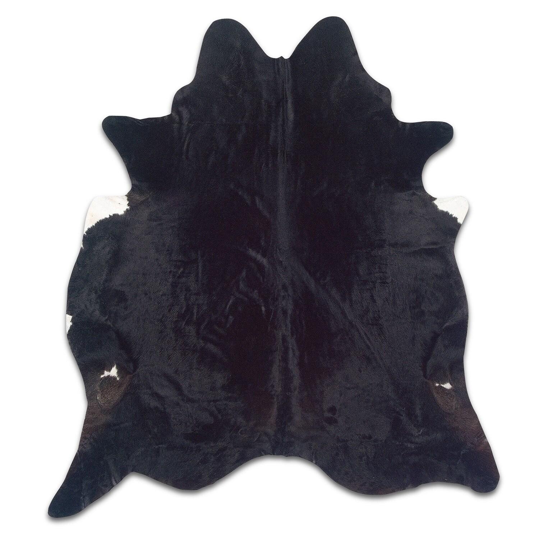 Rugs - Cowhide 5' x 7' Area Rug - Black Brindle