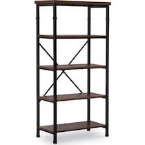 coy dark brown bookcase