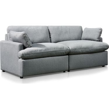 Cozy 2-Piece Power Reclining Sofa - Gray