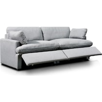 cozy gray  pc power reclining sofa