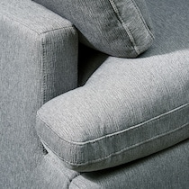 cozy gray  pc sectional and ottoman