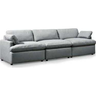 Cozy 3-Piece Sofa - Gray