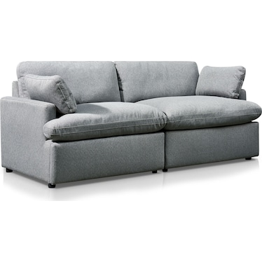 Cozy 2-Piece Sofa - Gray