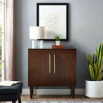 craig dark brown accent cabinet
