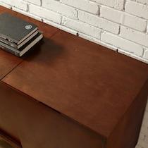 craig dark brown tv console