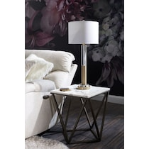 crystal & gold table lamp yellow table lamp