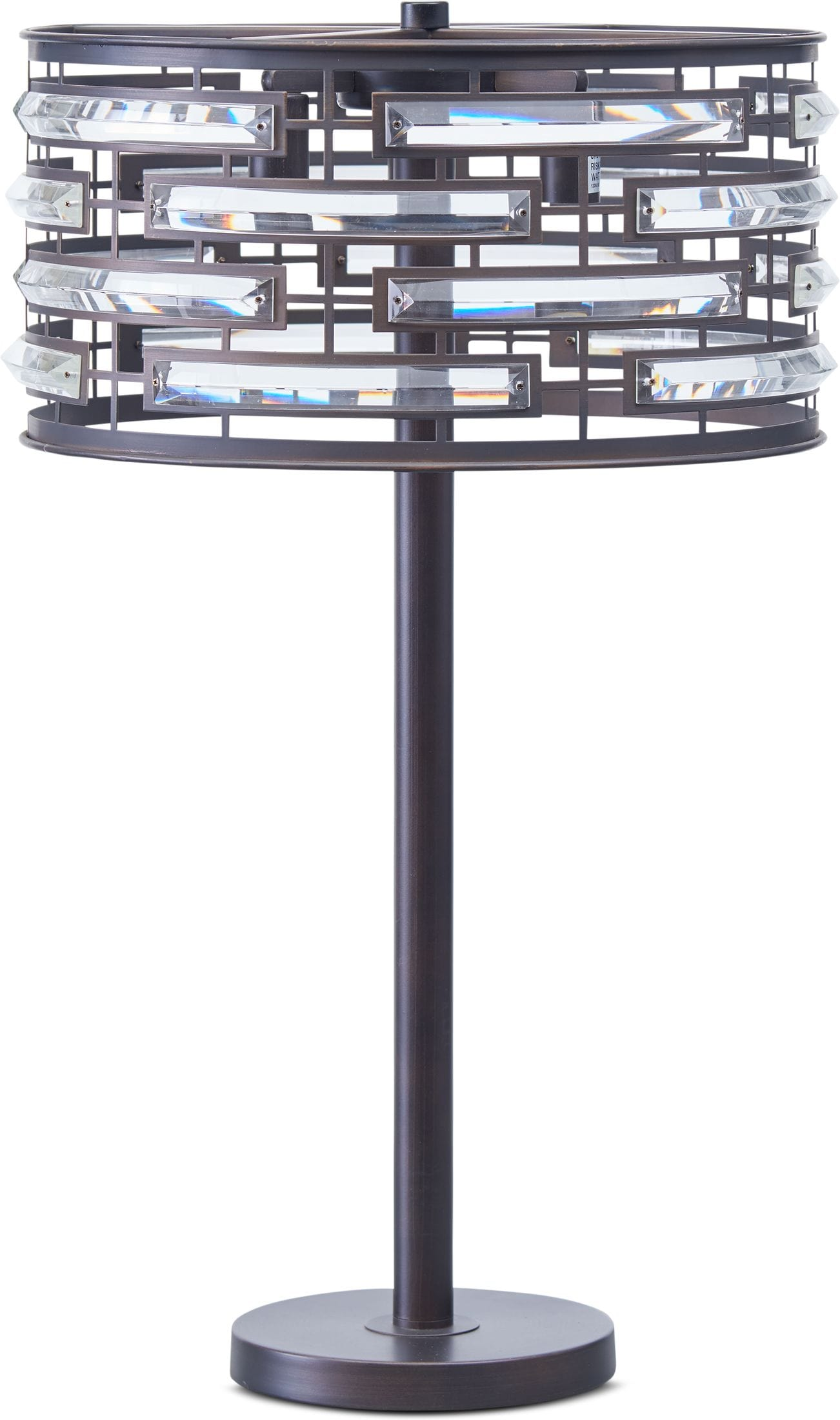 Home Accessories - Crystal Bronze Table Lamp