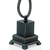 curved bronze black table lamp