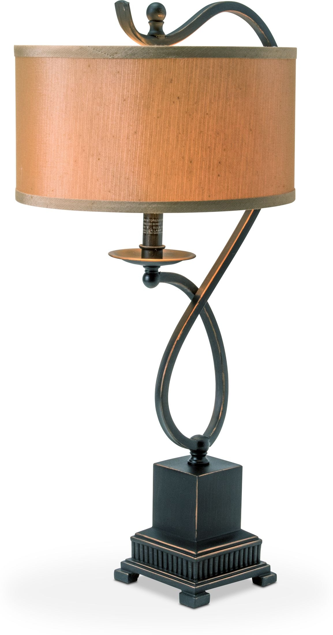 Home Accessories - Curved Bronze Table Lamp