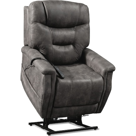 Cyrus Triple-Power Heated Lift Recliner - Gray