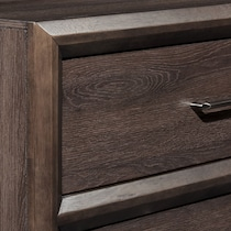 dakota dark brown nightstand
