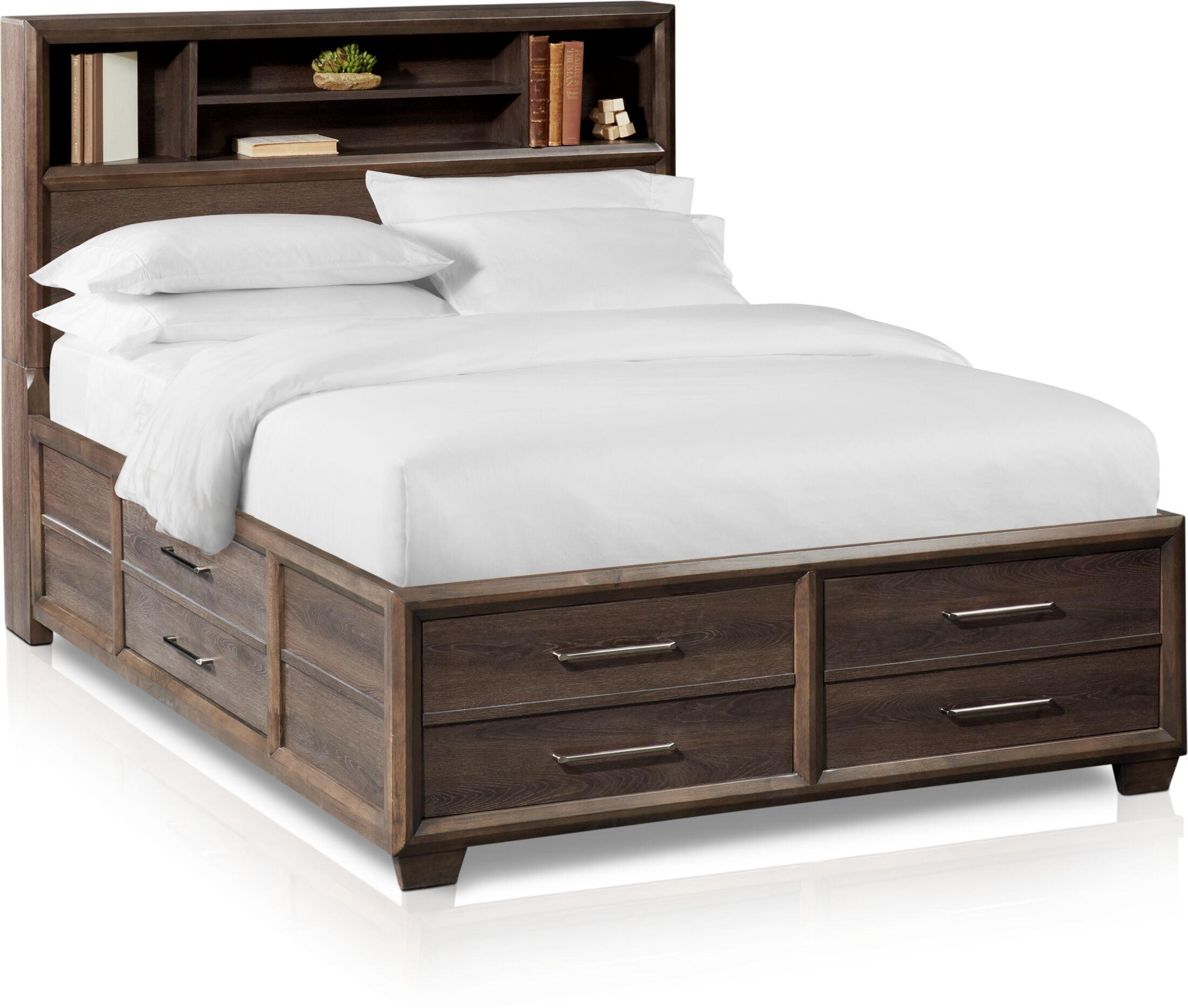 Picture of: Dakota Bookcase Storage Bed American Signature Furniture