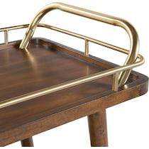 darby dark brown bar cart
