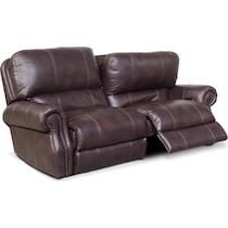 dartmouth burgundy dark brown  pc power reclining sofa