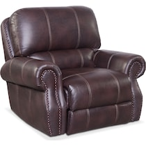 dartmouth burgundy dark brown power recliner