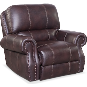 Dartmouth Dual-Power Recliner - Burgundy