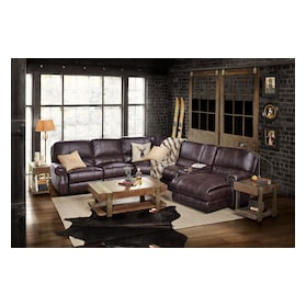 Dartmouth 6-Piece Dual-Power Reclining Sectional with Chaise and 2 Reclining Seats