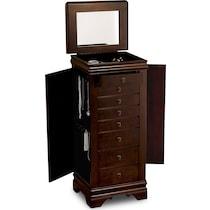 darvin dark brown jewelry armoire