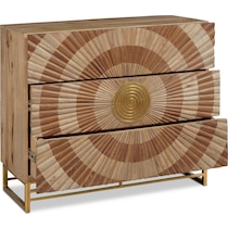 declan brown and gold accent chest