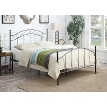deena dark brown queen bed