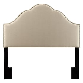 Delaney Queen Upholstered Headboard - Oatmeal