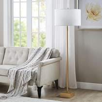 delano gold floor lamp