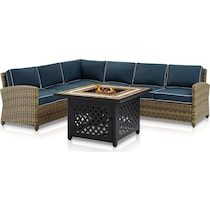 destin blue outdoor sectional set
