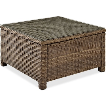 Destin Outdoor Square Coffee Table - Brown