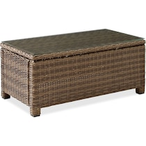 destin dark brown outdoor coffee table