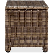 destin dark brown outdoor end table