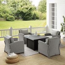 destin gray outdoor chair set