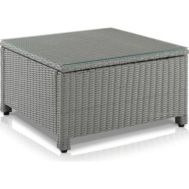 Destin Outdoor Square Coffee Table - Gray