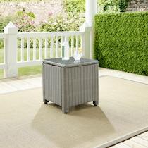 destin gray outdoor end table