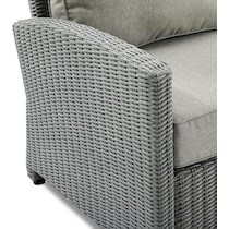 destin gray outdoor loveseat set