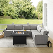 destin gray outdoor sectional set