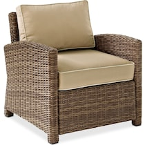 destin light brown outdoor chair