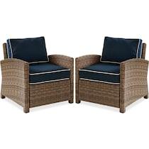 destin navy outdoor chair set