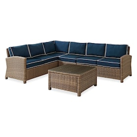 Destin 4-Piece Outdoor Sectional and Coffee Table Set