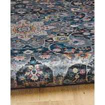 devi gray teal area rug ' x '